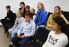 Algunos de los chicos argentinos esperando hacer su Promesa de Lealtad