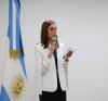 La Secretario Mariana Miguel da la bienvenida a los chicos